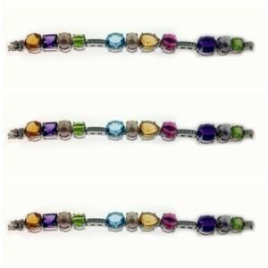 coloured stone bracelet
