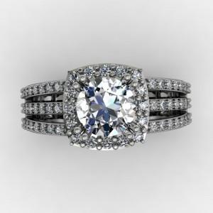 triple split shank engagment ring design