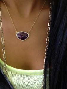 sliced sapphire necklace