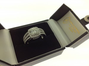 triple split shank engagment ring