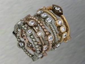 diamond stacking rings design