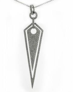 diamond spike pendant