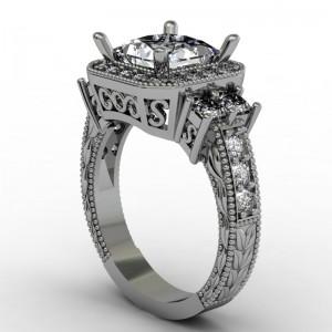 cad engagement ring design