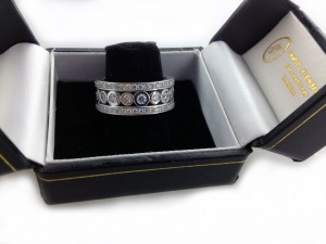 wide eternity ring