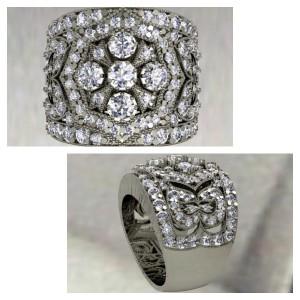 fancy diamond wide ring