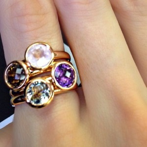 coloured stacking rings