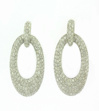Shop Oval Pave Diamond Earring Toronto