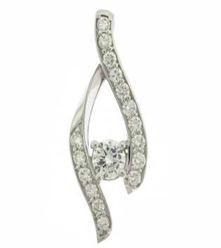 Unique Twist Diamond Pendant Toronto