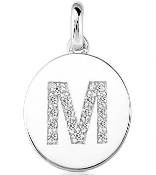 Custom Made Diamond Initial Disc Necklace