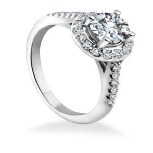 Lab Grown Halo Diamond Engagement Ring