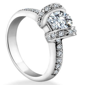Brilliant Engagement Ring Ribbon Design