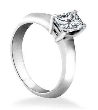 Radiant Diamond Custom Engagement Ring
