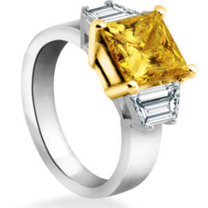 Yellow Lab Diamond Engagement Ring