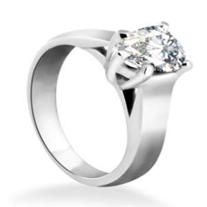 Pear Diamond Engagement Ring Solitaire