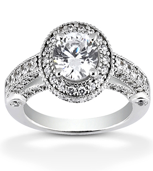 Fancy Engagement Ring With Diamond Detail