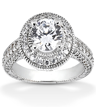 Engagement Ring With Milgrain Detail