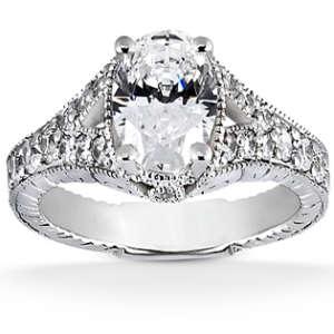 Unique Oval Cut Diamond Engagement Ring
