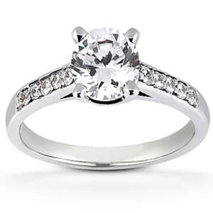 Engagement Ring With Shank Diamond
