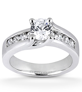 Contemporary Brilliant Engagement Ring