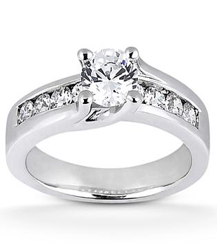 Contemporary Brilliant Engagement Ring