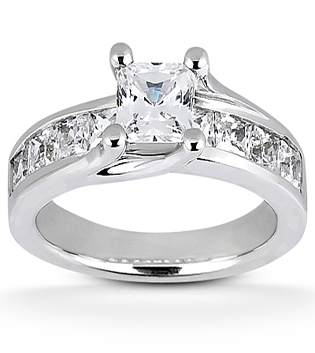 Engagement Ring Contemporary Princess Cut
