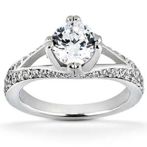 Split-Shank Brilliant Engagement Ring