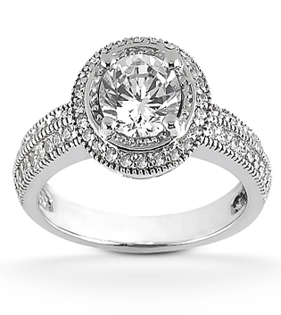 Round Brilliant Engagement Ring PAVÉ HALO