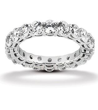 Diamond Eternity bands Round Shared Claw Gallery