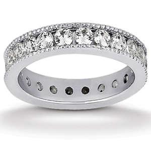 Round Milgrain Eternity wedding ring
