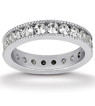 Round Milgrain Eternity wedding ring