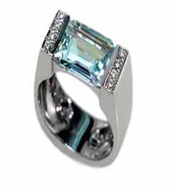 Blue Topaz Diamond Ring Toronto
