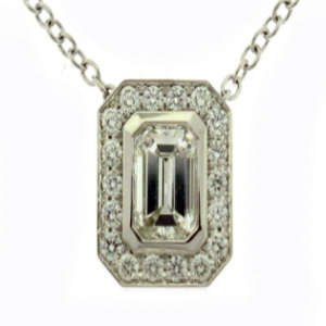 Emerald Cut Diamond Pendant Toronto