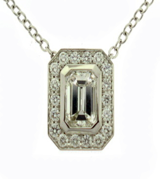 Emerald Cut Diamond Pendant Toronto