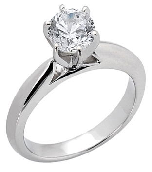 Engagement Ring With Solitaire Brilliant