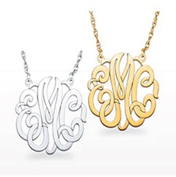 Custom Diamond Necklace Monogram Toronto