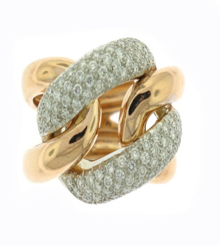 Rose Gold Diamond Ring Link Toronto