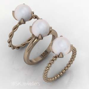 stacking pearl rings