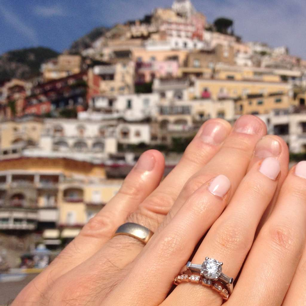 engaged on vacation