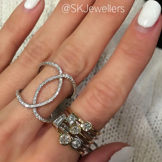 diamond stacking rings and fancy ring