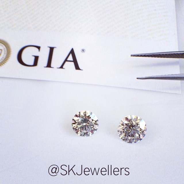 Round Brilliant GIA cert diamonds