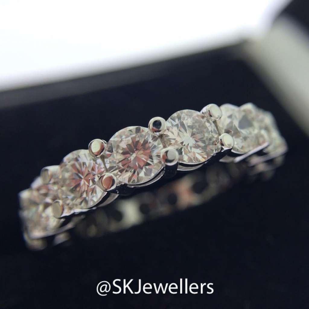 round diamond eternity ring