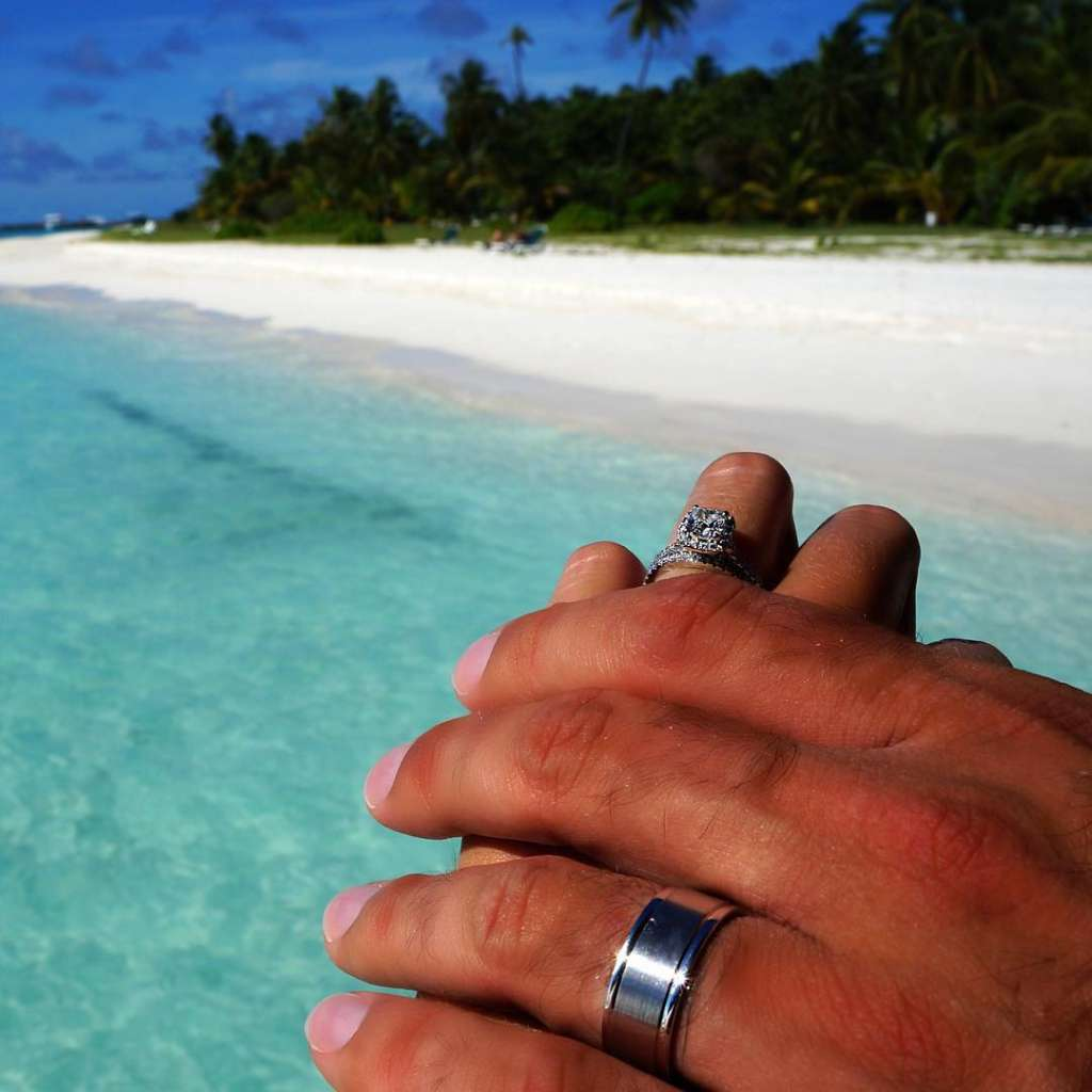 engagement ring maldives