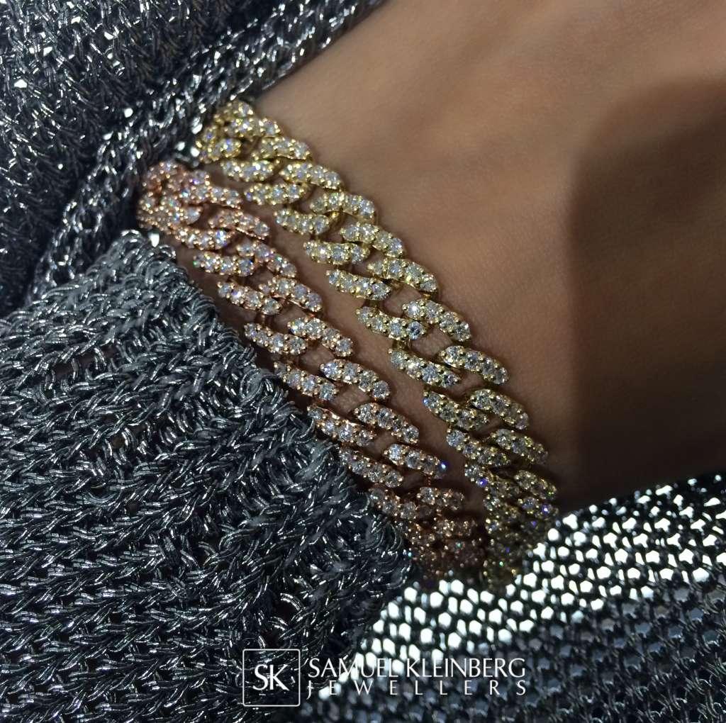 diamond link bracelets