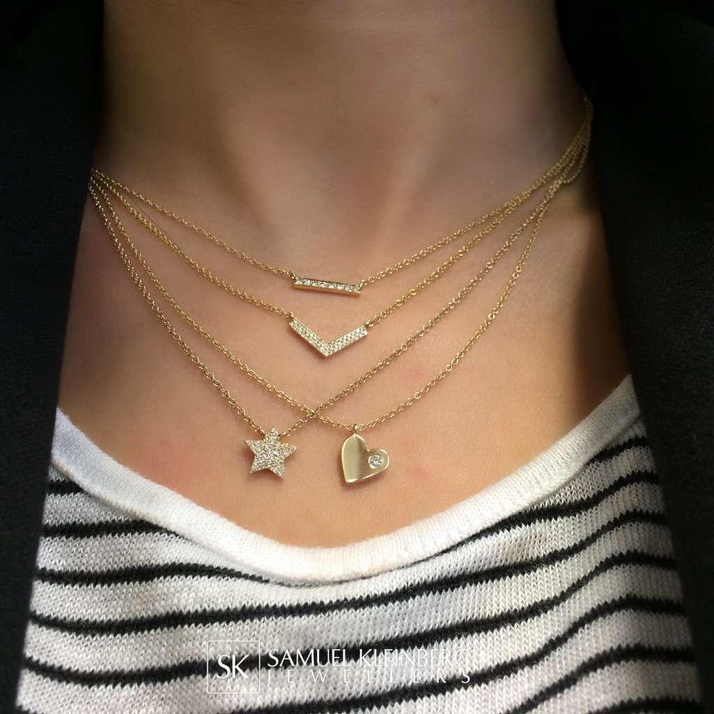 tiny diamond necklaces