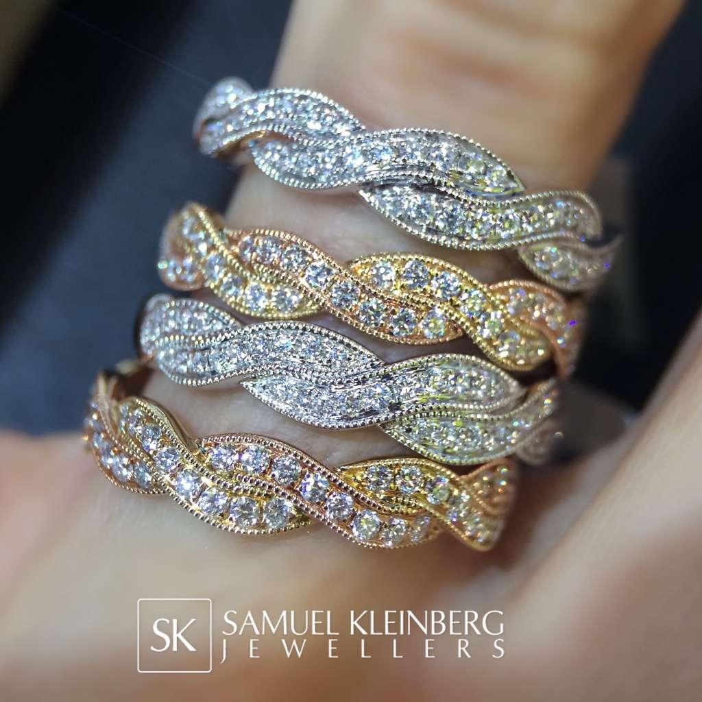 rope diamond eternity rings