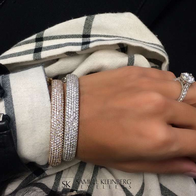 Pave Diamond Bangles