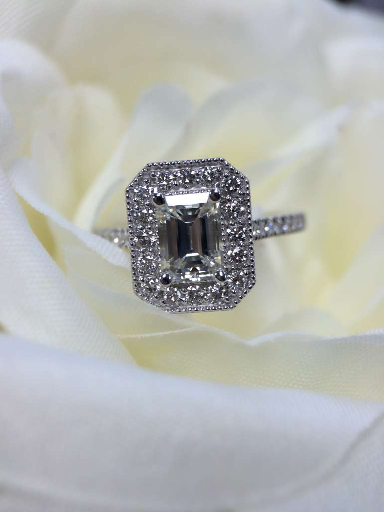 Emerald cut elegance