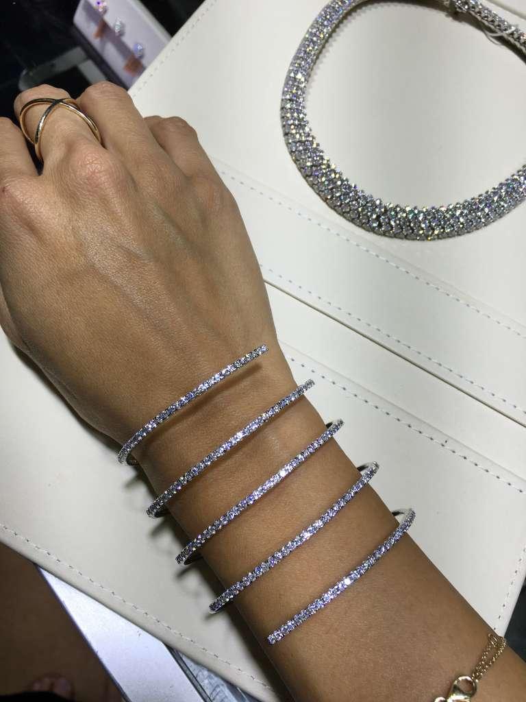 Diamond slinky bracelet