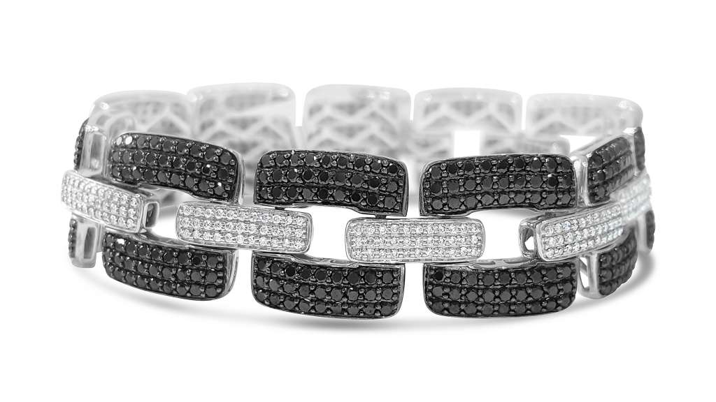diamond-black-diamond-link-bracelet