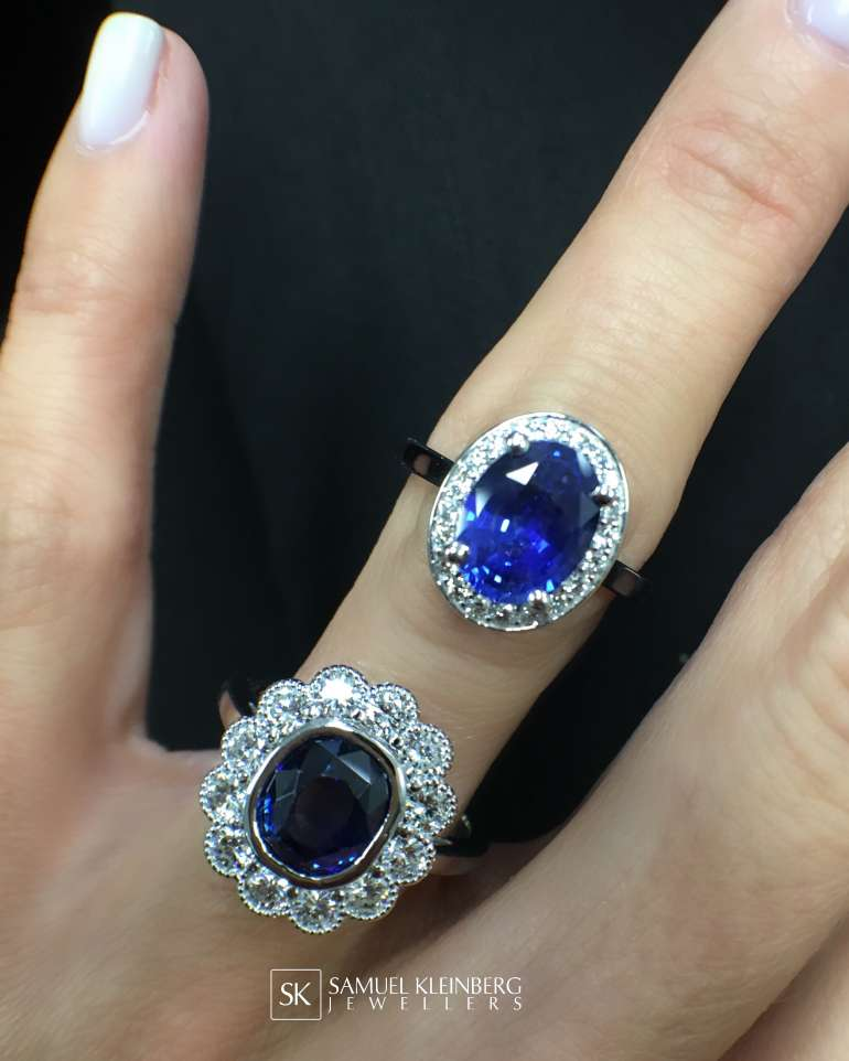 Blue Sapphire Halos